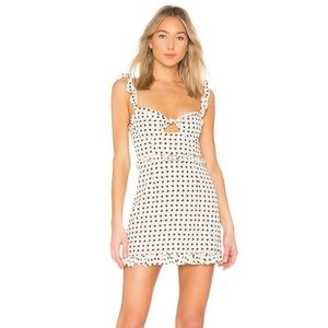 For Love & Lemons Sweetheart Mini Dress, Size XS